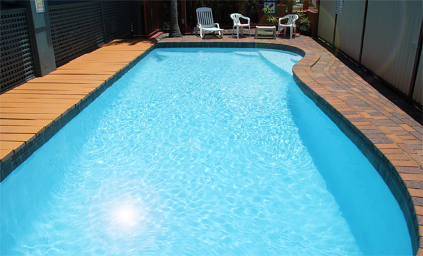 Relax in our guest swimming pool at Annerley Motor Inn